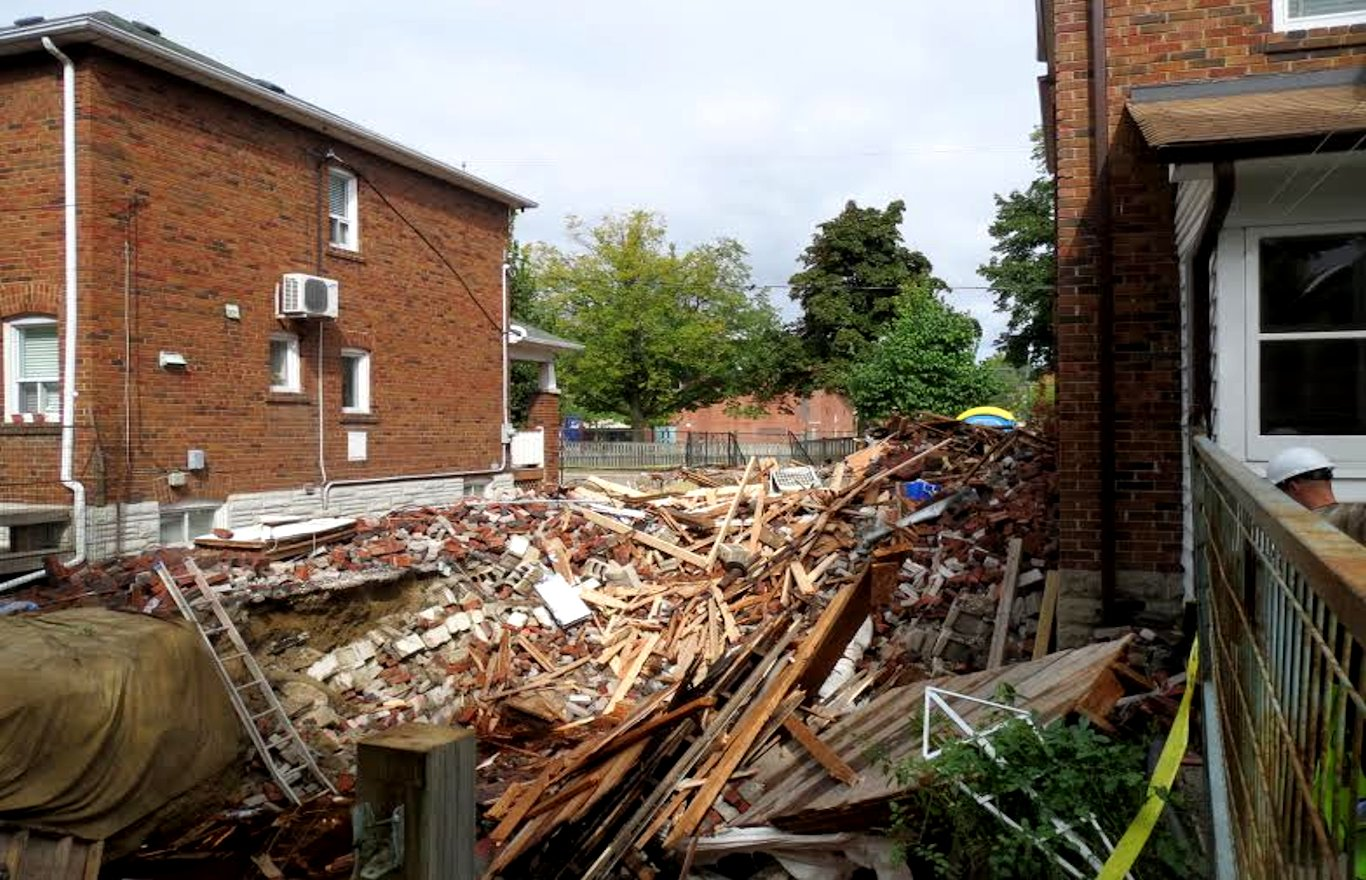 Forensic Engineering Image Two Storey House Collapse