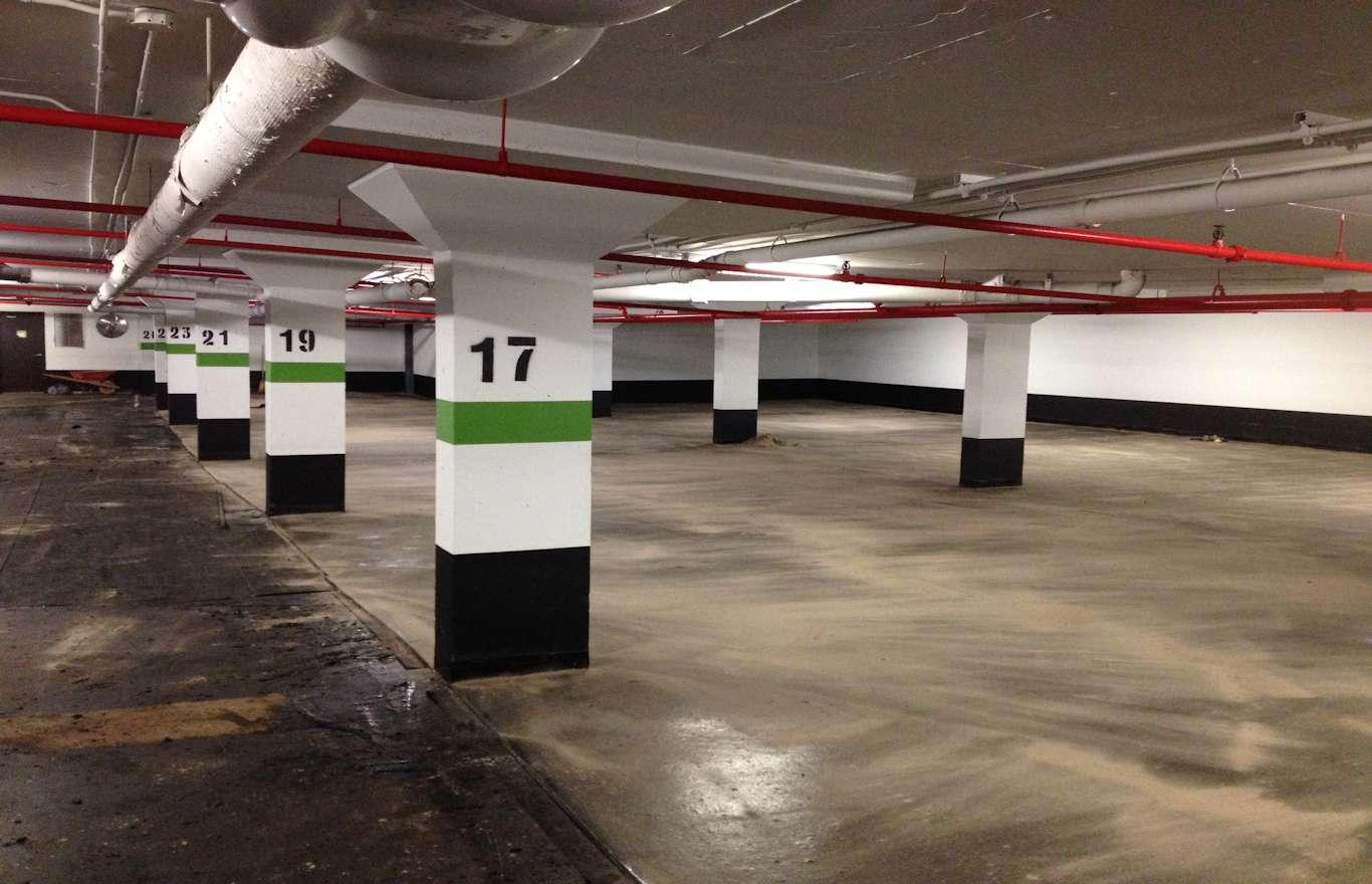 Parking garages expertise brown beattie ltd for Garage slab design