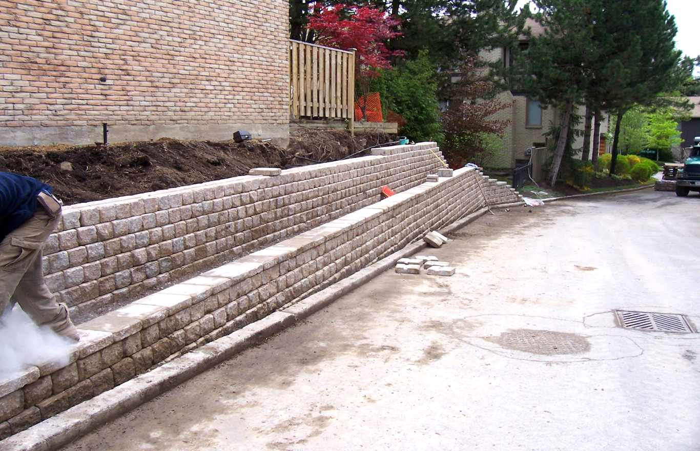 Retaining wall completed for specifications & tendering project