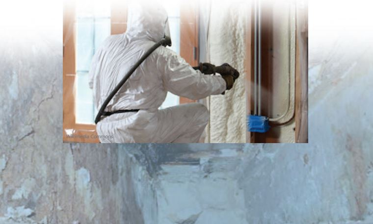 Spray foam article header