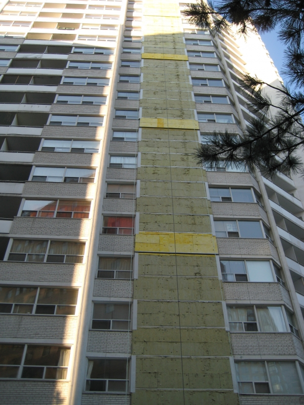 Final Stages of Exterior Wall Cladding Renovation