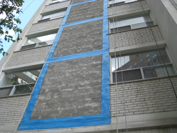 During Exterior Wall Cladding Renovation