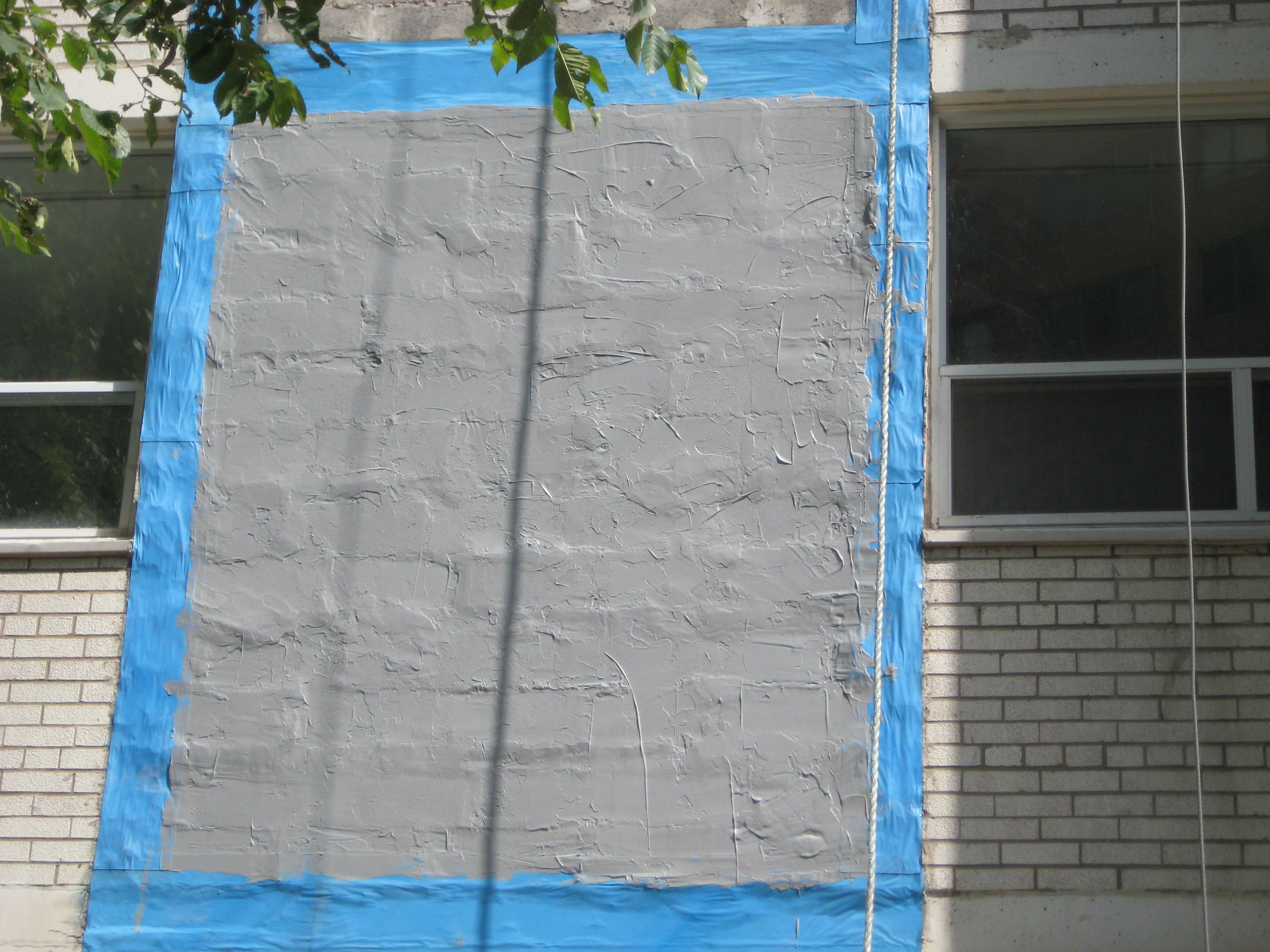 During Exterior Wall Cladding Renovation
